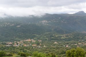 Vue villages balagne de Sant'Antonio